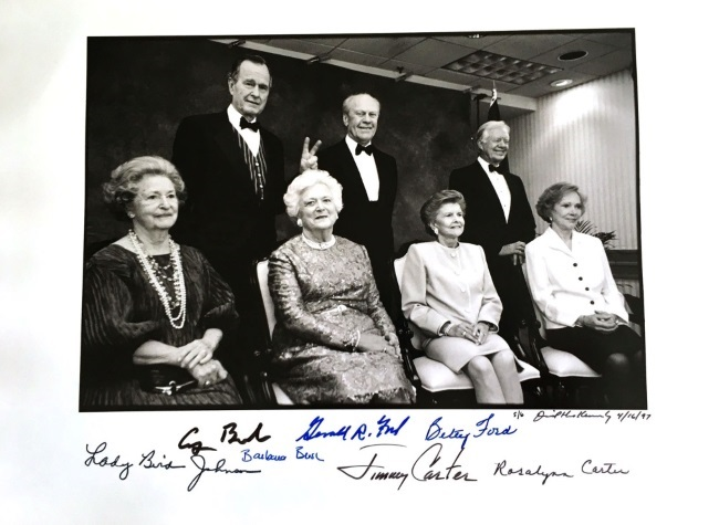 David Hume Kennerly, Presidents and Wives, with signatures