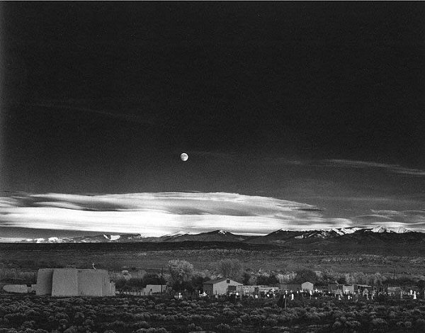 Ansel Adams, Moonrise, Hernandez, New Mexico