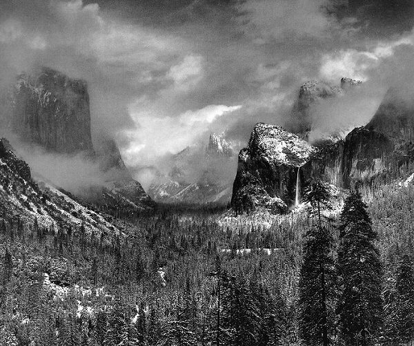 Ansel AdamsAnsel Adams Clearing Winter Storm