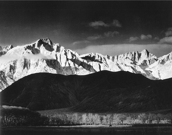 Winter Sunrise, Sierra Nevada from ... - Ansel Adams Gallery