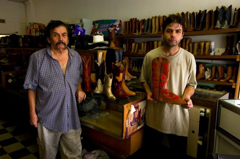 Peter Calvin, Father and Son, Ramirez Boot Shop