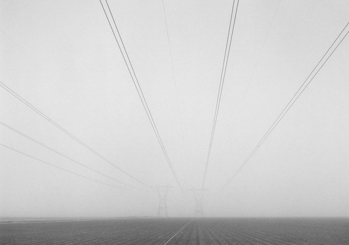 Power Lines and Plowed Field, San Joaquin Valley