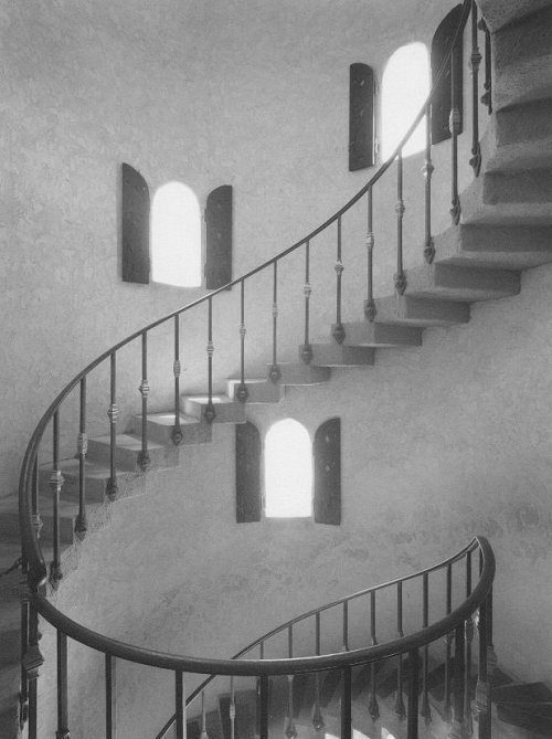 Tower Stairs, Scotty's Castle, Death Valley