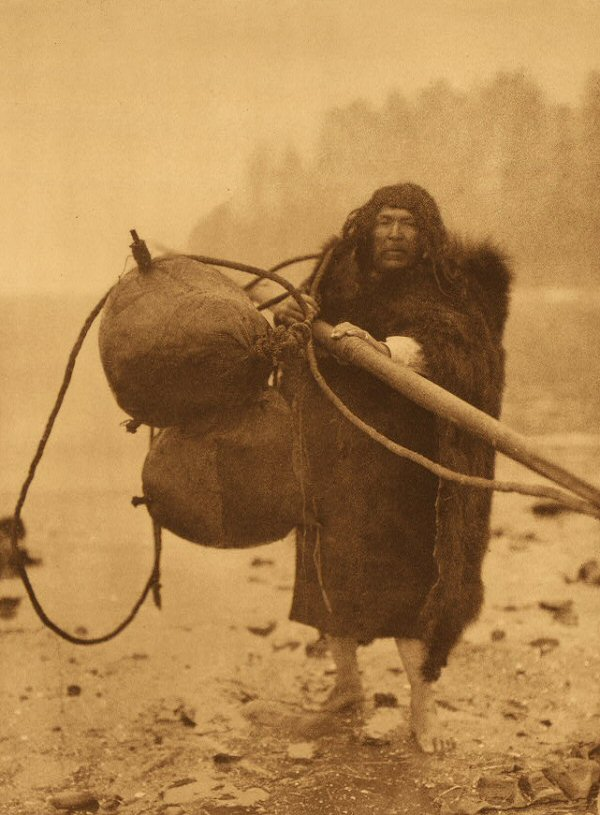 The Whaler-Makah, Edward Curtis