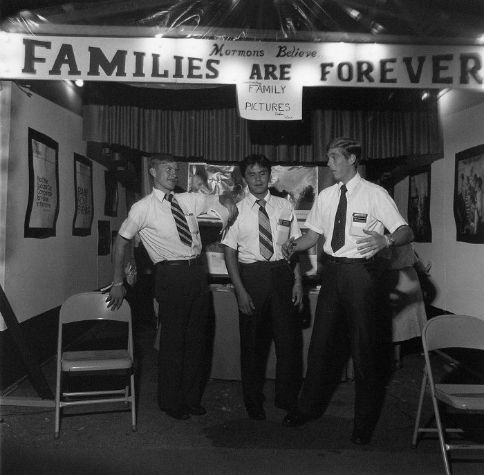 Larry Fink, Untitled (Three Mormons)