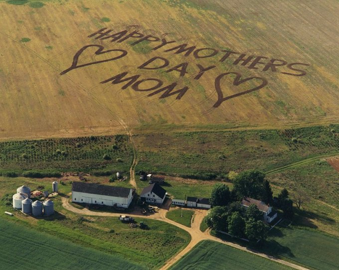 Mother's Day Message Plowed into Field