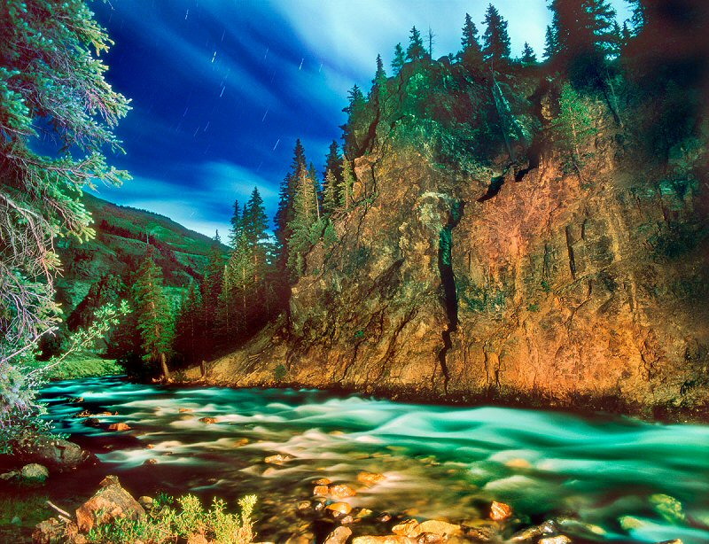 William Lesch, Animas River, Moonlight, Silverton, Colorado