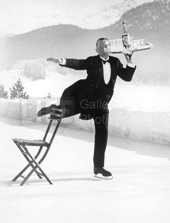 Alfred Eisenstaedt, Ice Skating Waiter