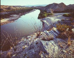 Tornillo Creek and the Rio Grand River